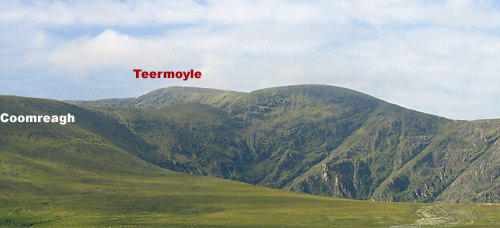 MountainViews.ie Picture about mountain Teeromoyle Mountain in area Glenbeigh Horseshoe, Ireland