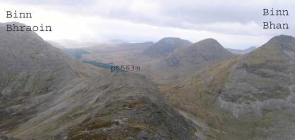 MountainViews.ie Picture about mountain Binn Dubh in area Twelve Bens, Ireland