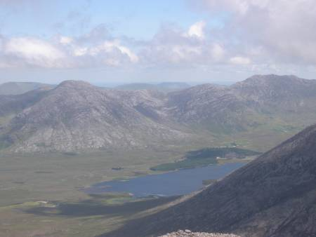MountainViews.ie Picture about mountain Binn Bhrioc�in in area Maamturks, County Galway, Ireland