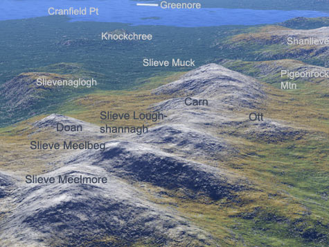 MountainViews.ie Picture about mountain Slieve Loughshannagh in area Mourne Mountains, Ireland