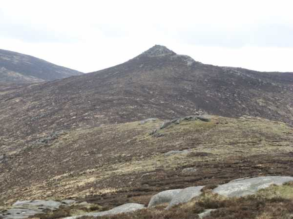 MountainViews.ie Picture about mountain Tievedockaragh in area Mourne Mountains, Ireland