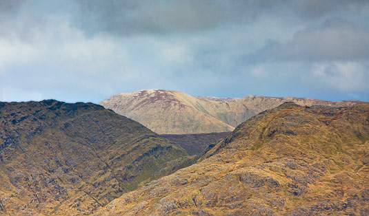 MountainViews.ie Picture about mountain Binn Charrach in area Twelve Bens, Ireland