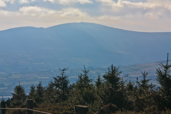 MountainViews.ie Picture about mountain Gibbet Hill in area North Wexford, Ireland