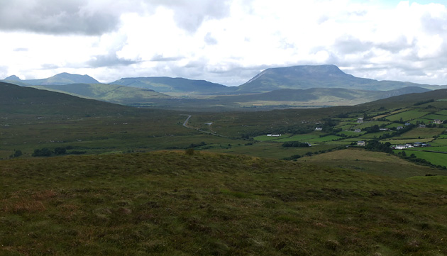 MountainViews.ie Picture about mountain Loughaskerry in area Donegal NW, Ireland