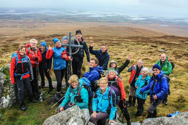 """MountainViewers and Friends on Bengorm in the Nephin Begs"" from simon3 Contract pics"