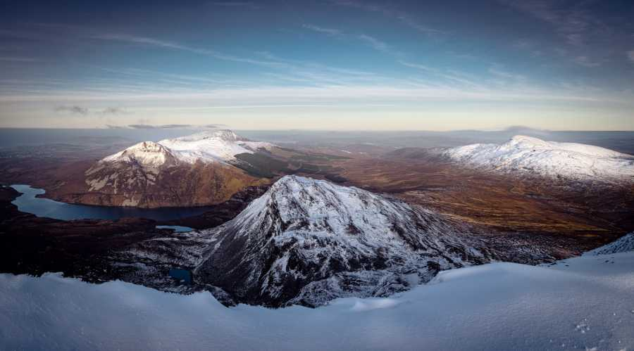 """Aghlas, Muckish and Dooish from Mount Errigal"" from mcrtchly Contract pics"