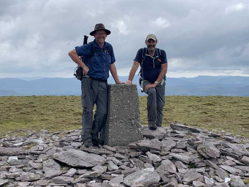 """2 Happy Summiteers on Knocknadobar. "" from liz50 Contract pics"