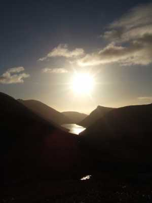 """Sun explodes over Silent Valley"" from Bleck Cra Contract pics"