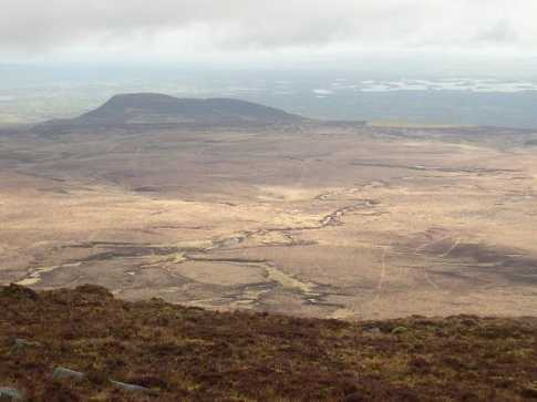 """Breifne View: looking towards Benaughlin and Upper Lough Erne from Cuilcagh"