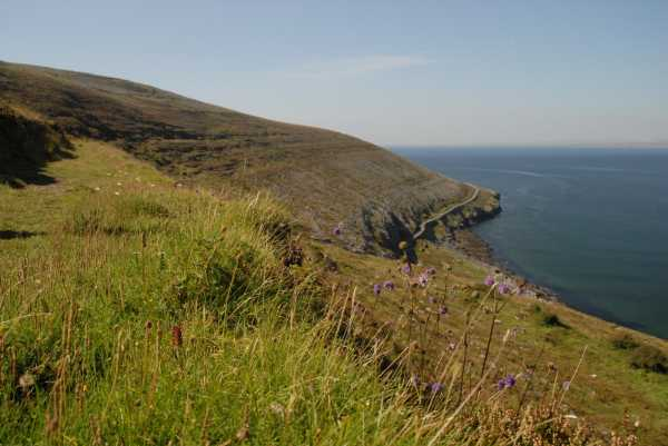 """view frmo the rough section of Fanore/Blackhead loop"" from Ben Quinn Contract pics"