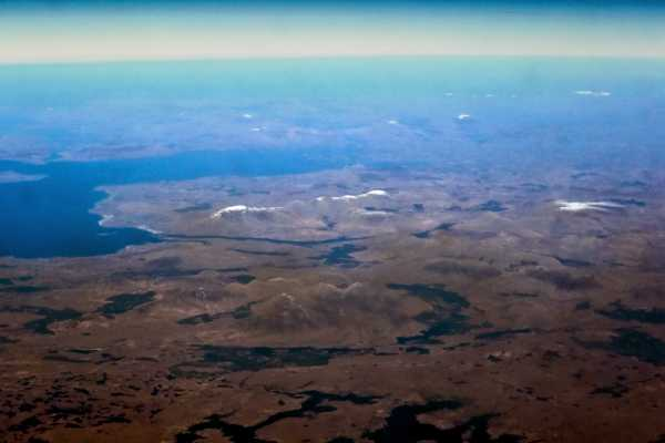"""Connemara from 50,000 feet. Twelve Bens in the foreground with Killary Harbour and Mweelrea behind"" from mcrtchly Contract pics"