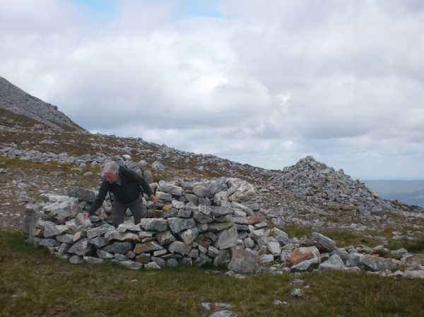 """Tony building a hut below Croagh Patrick."" from dominic divilly Contract pics"