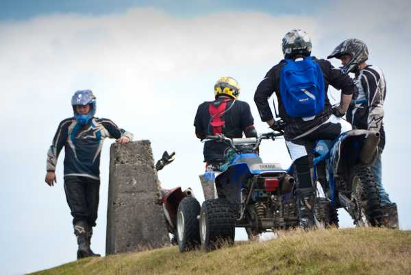 """ATV and mountain scramblers on Knockmealdown"" from mcrtchly Contract pics"