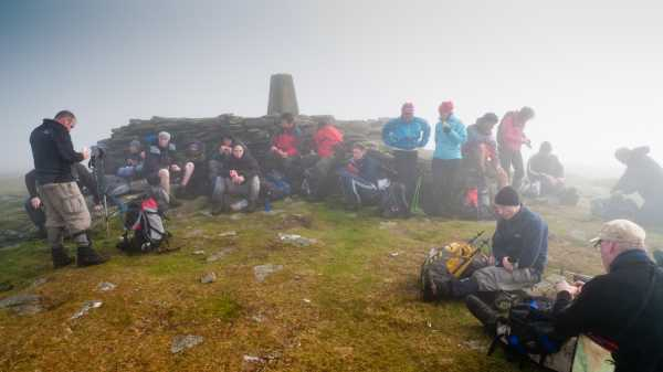 """Scavvy 5 group on the summit of Lug"" from mcrtchly Contract pics"