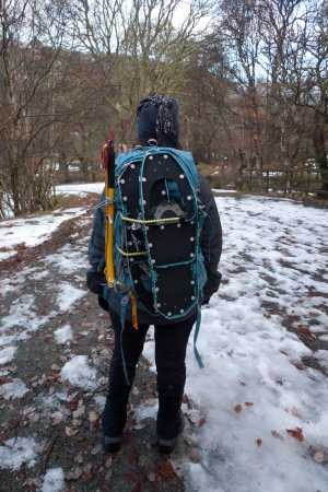 """Snowshoes strapped to rucksack"" from kernowclimber Contract pics"