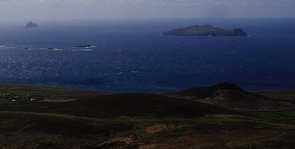 """The little volcanic peak at Clogher head (in right foreground)"" from scapania Contract pics"