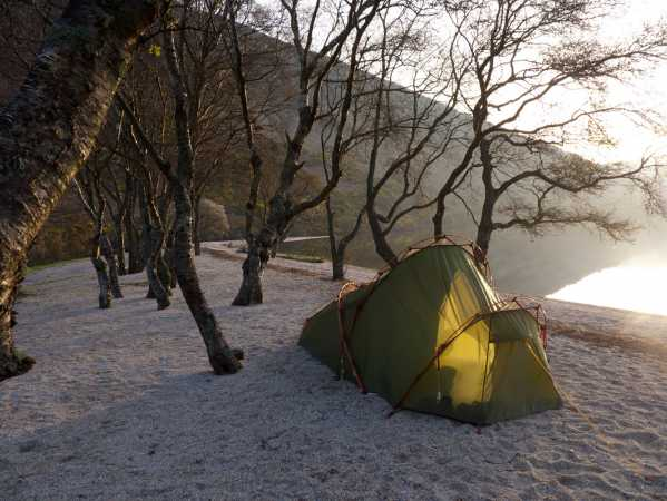 """Camping besides Lough Dan"" from mcrtchly Contract pics"