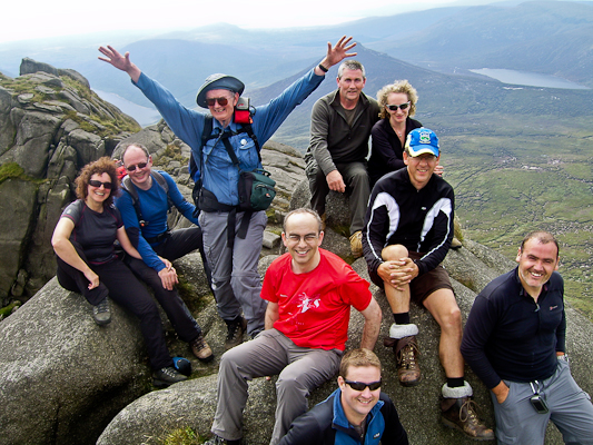 """8 Scavvies and Liza Minnelli at the last Mournes Scavenger Walk"" from Bleck Cra Contract pics"