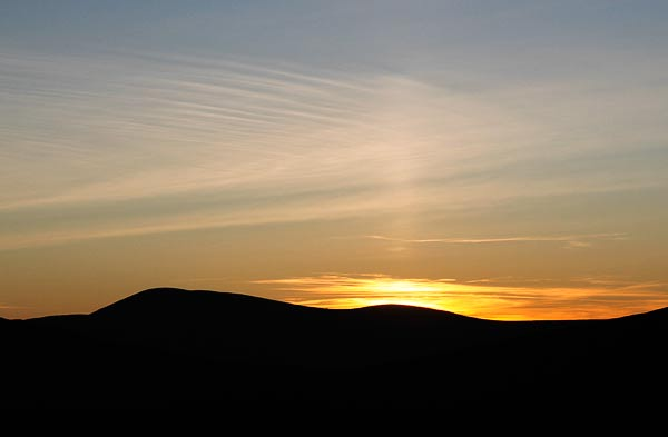 """Sun pillar just after sunset."" from simon3 Contract pics"