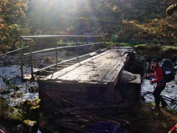 """Balinabrocky Bridge in a sad state."" from Tom Milligan Contract pics"