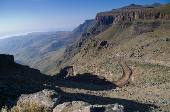 """The infamous Sani Pass in the Drakensburg Mountains"" from kernowclimber Contract pics"