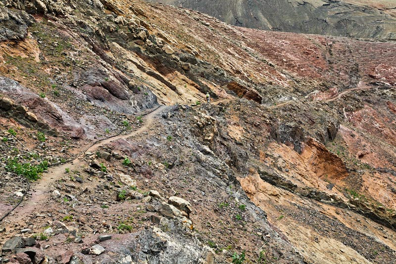 """Track on volcanic slope, Lanzarote"" from simon3 Contract pics"