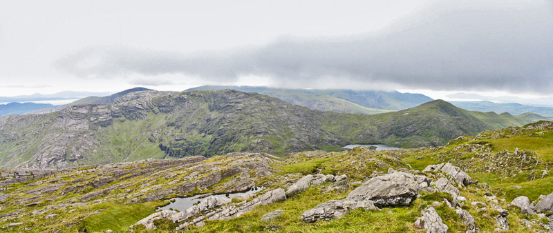 """From Cnoc Breasail, l-r Dromtine Ridge, Coomcathcun, Bhinn Láir"" from simon3 Contract pics"
