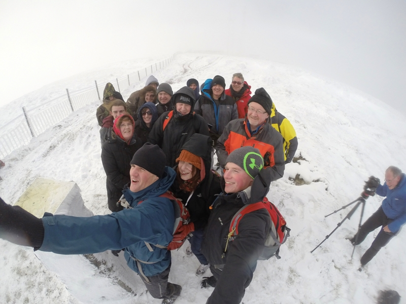 """The group on the summit of Mullaghcarn at 542m!"" from simoburn Contract pics"