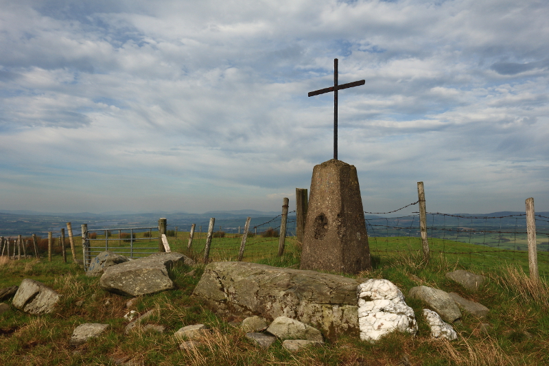"""Trig pillar on Knockavoe"" from Aidy Contract pics"