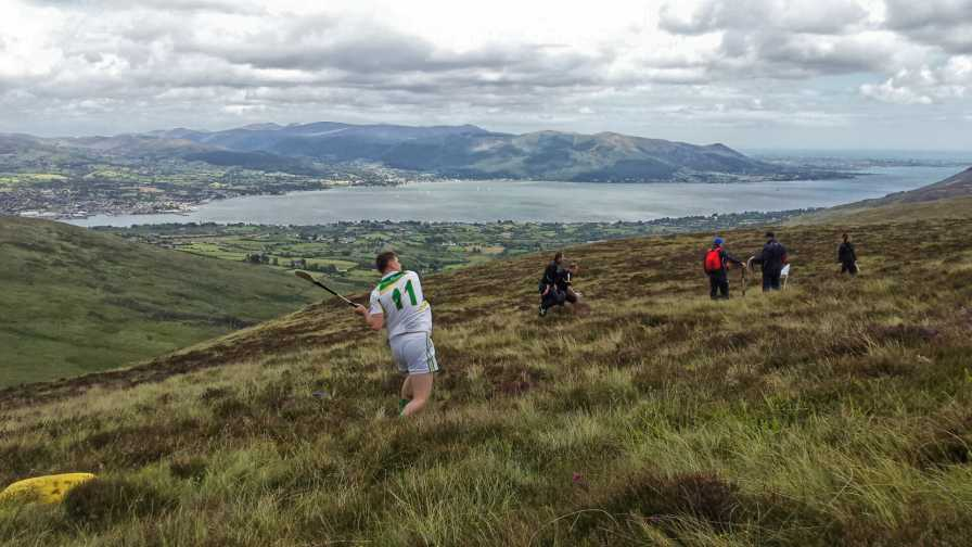 """Heading to Carnavaddy, looking down on Carlingford Lough & the Mournes"" from Trailtrekker Contract pics"
