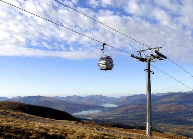"""Ben Nevis gondola similar to that proposed for the Mournes"" from mcrtchly Contract pics"