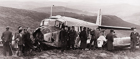"""The remains of the Junkers 52 Plane which crashed into Djouce on the 12th of August 1946"" from Eoin R Contract pics"