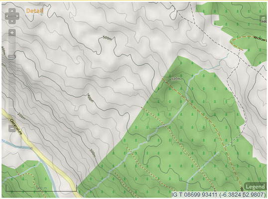 """Revised mapping around Glenmalure - Lugduff."" from simon3 Contract pics"