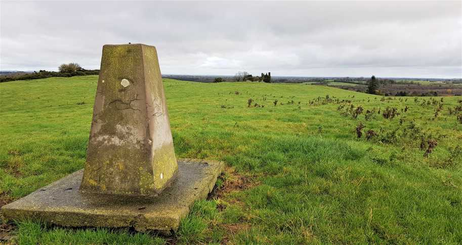 """Carbury Hill Trig and castle ruins in the distance"" from eamonoc Contract pics"