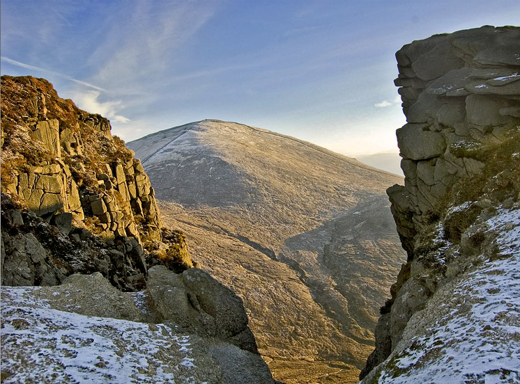 Slieve Donard framed by the Devil's Coachroad, Mournes, by Paul O Connor