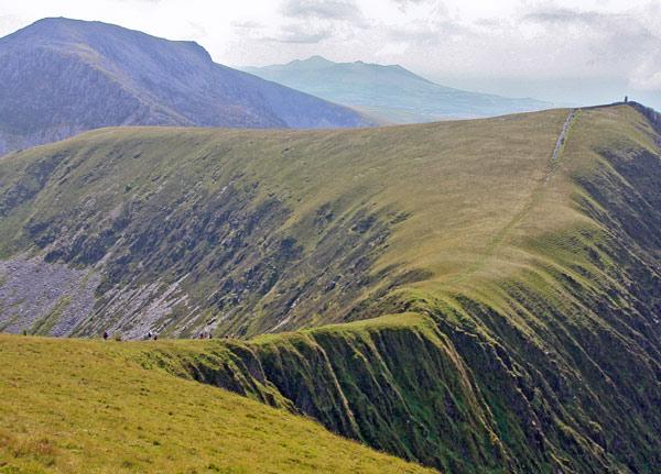 Bwich Dros-bern, Nantlle Ridge, Wales
