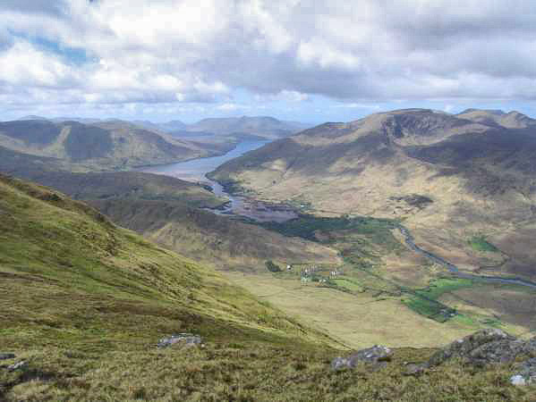 Killary Fjord Panorama From Devilsmother