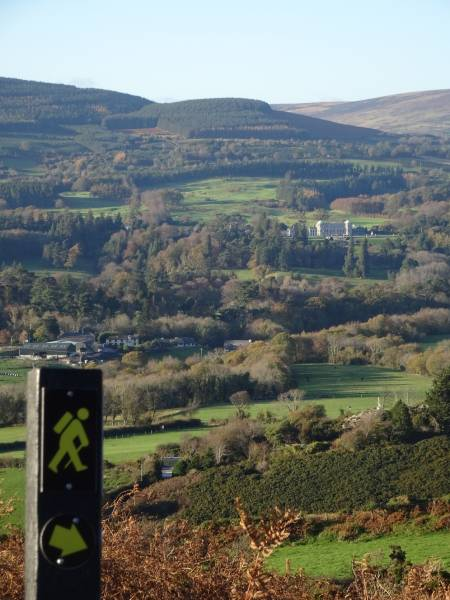 View of Powerscourt from the Sugarloaf way