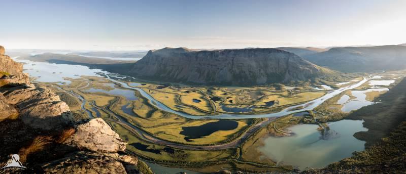Laitaure delta: the best mountain view in Sweden