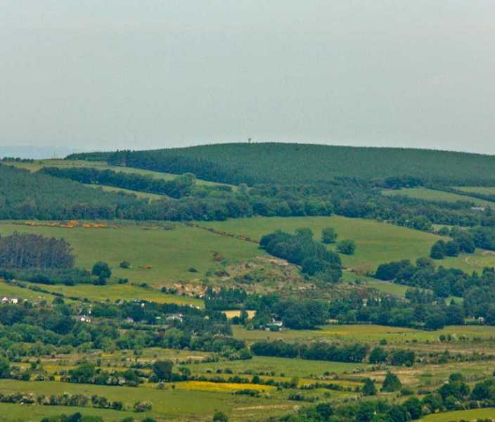 MountainViews.ie Picture about mountain Cupidstown Hill in area Dublin/Wicklow, Ireland