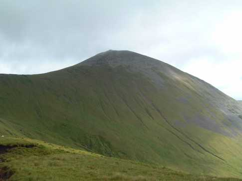 MountainViews.ie Picture about mountain Birreencorragh (<i>Birín Corrach</i>) in area North Mayo, Ireland
