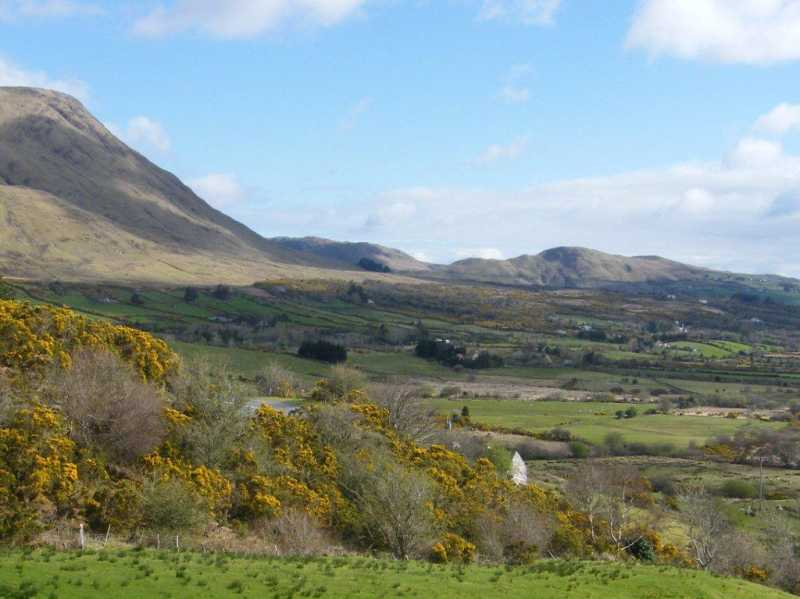 MountainViews.ie Picture about mountain Tullymorehill in area Partry/Joyce Country, Ireland