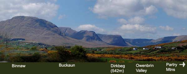 MountainViews.ie Picture about mountain Maumtrasna in area Partry/Joyce Country, Ireland