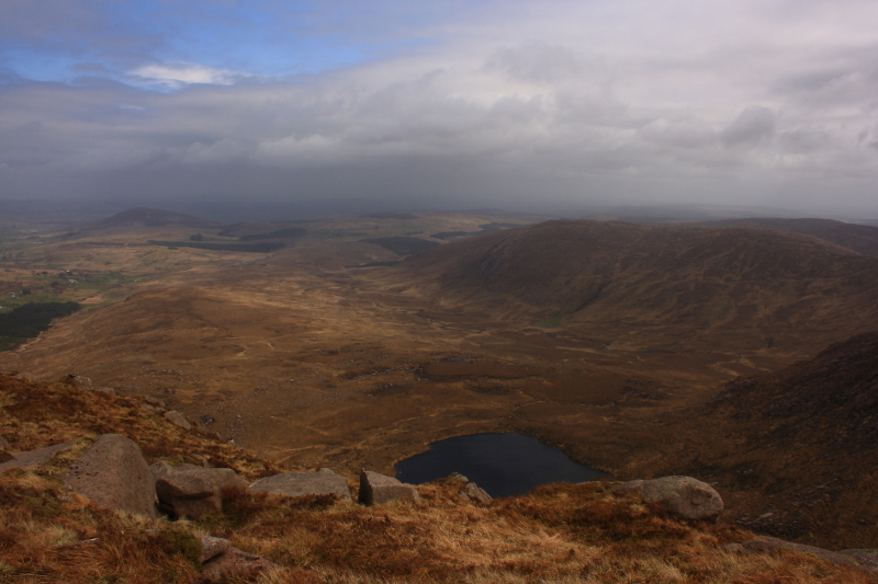 MountainViews.ie Picture about mountain Glascarns Hill in area Bluestack Mountains, Ireland