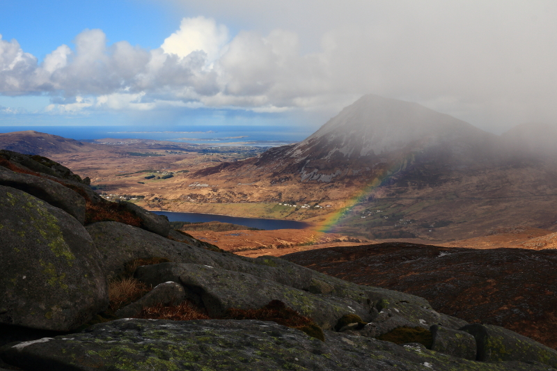 MountainViews.ie Picture about mountain Sliabh Sneachta in area Donegal NW, Ireland