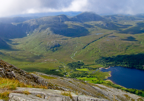 MountainViews.ie Picture about mountain Slieve Snaght in area Donegal NW, Ireland