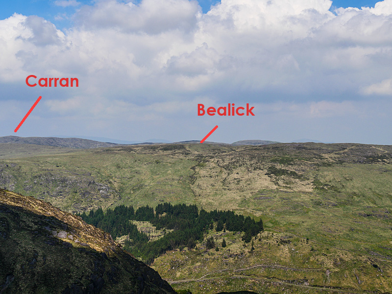 MountainViews.ie Picture about mountain Bealick (<i>Béillic</i>) in area Shehy/Knockboy, Ireland