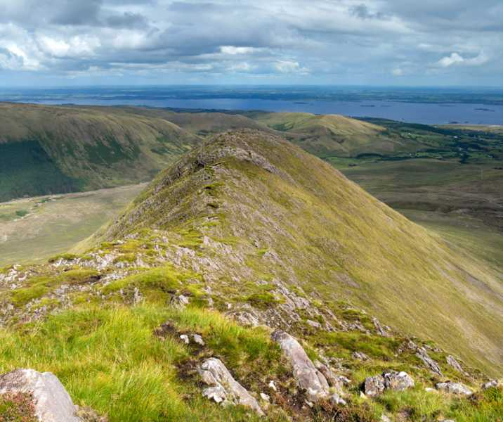 MountainViews.ie Picture about mountain Buckaun East in area Partry/Joyce Country, Ireland