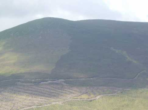 MountainViews.ie Picture about mountain Knocknagnauv in area Knockmealdown Mountains, Ireland