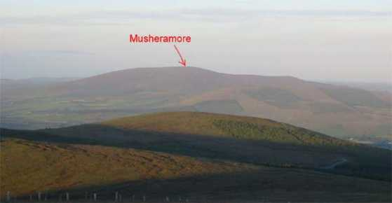 MountainViews.ie Picture about mountain Musheramore in area Boggeragh Mountains, Ireland